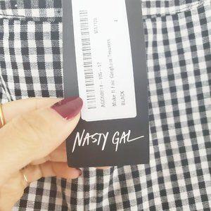 Nasty Gal Pants & Jumpsuits - NASTY GAL Make It Fair Gingham Pants NWOT